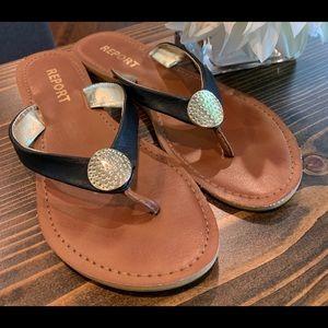 Report Leather Flip Flops